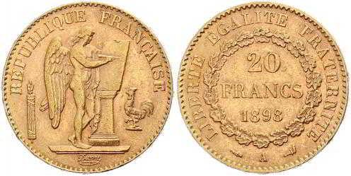 покупаем 20 франков 1898