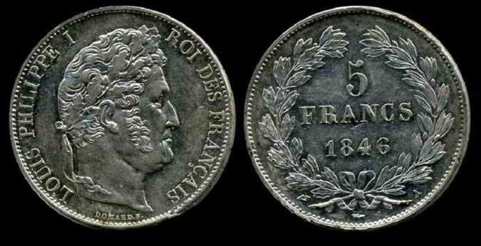 5 franc 1846 покупаем