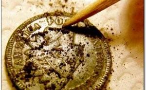 Чистим медную монету