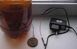 Собираем припарат лектролиза для чистки монеты