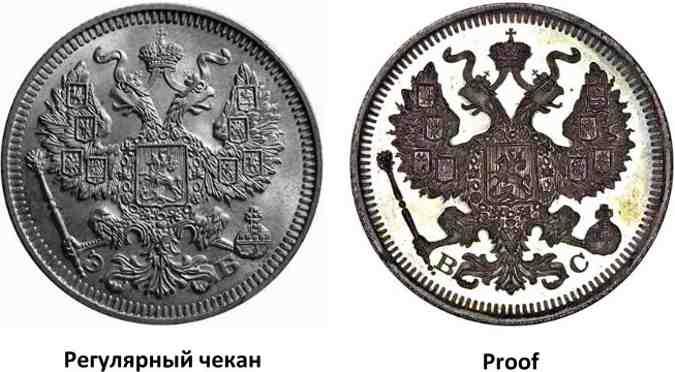Состояние монеты Proof