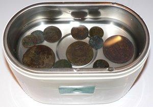 Вана для чистки монет
