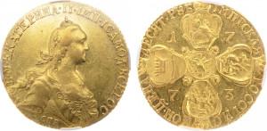Золотые 10 рублей Екатерины II 1773 года