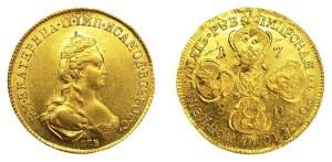 5 рублей Екатерины II 1780 года