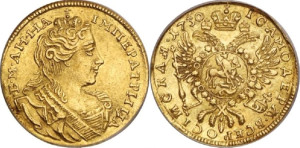 Изображение червонца 1730 года