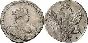 Изображение полтины 1739 года