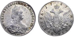 Серебряная полтина Екатерины II 1787 года