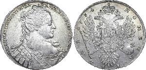 1 серебряный рубль 1734года