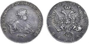 Фотография монеты 1 рубль Иоанна Антоновича