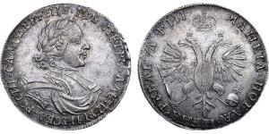 Изображение 1 рубля 1718 года