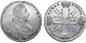 Изображение 1 рубля 1729 года