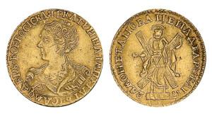 Изображение 2 рублей 1726 года