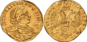 Изображение червонца 1716 года