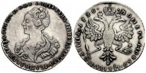 Изображение полтины 1726 года (Москва)