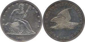 Серебряная монета 1 доллар США 1838 года