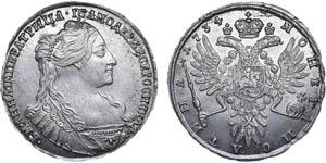 1 рубль Анны