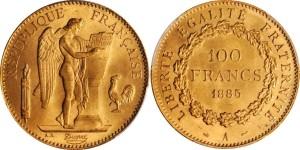 100 франков 3-й французской республики 1885 года