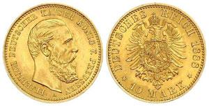 Золотые монеты 20 и 10 марок Германии и Австрии
