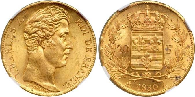 20 франков Карла X 1830 года