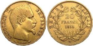 20 франков Наполеона III 1855 года