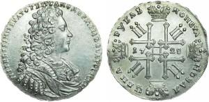 Изображение 1 рубля Петра II, 1728 год