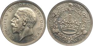 Монета серебряная крона Великобритании