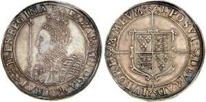 Серебряная крона Елизаветы I 1603 года