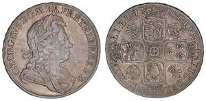 Серебряная крона Георга I 1716 года