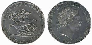 Серебряная крона Георга III 1819 года