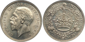Серебряная крона Георга V 1928 года