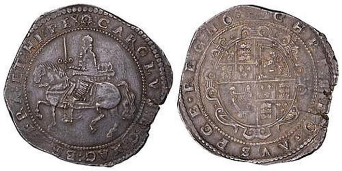 Серебряная крона Карла I 1643 года