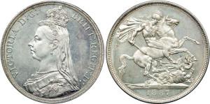 Серебряная крона Блистательной Виктории 1887 года
