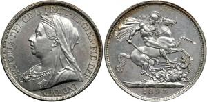 Серебряная крона Блистательной Виктории 1897 года