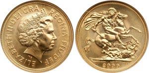 Монета золотой соверен Великобритании
