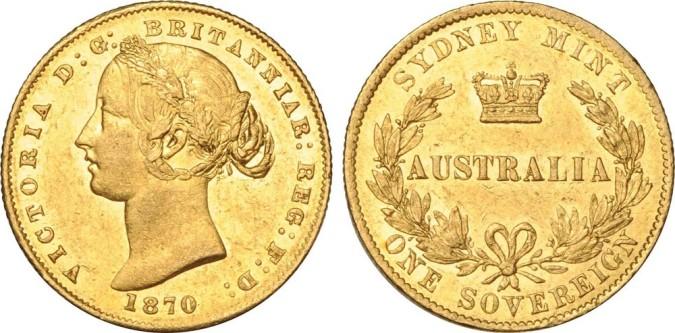 Золотой соверен королевы Виктории