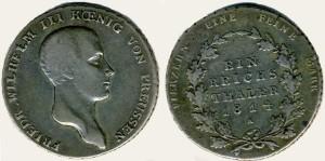 Серебряный талер при Фридрихе-Вильгельме III 1814 года