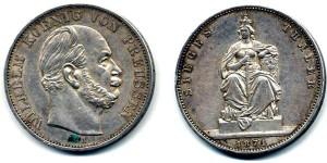 Серебряный талер при Вильгельме I 1871 года