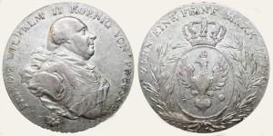 Серебряный талер при Фридрихе-Вильгельме II 1795 года