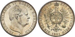Монета серебряный 1 талер Германии и Австрии