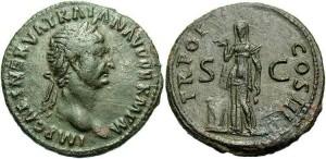Бронзовая монета Рима Асс