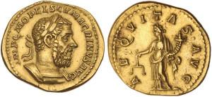 Золотая монета Рима Ауреус