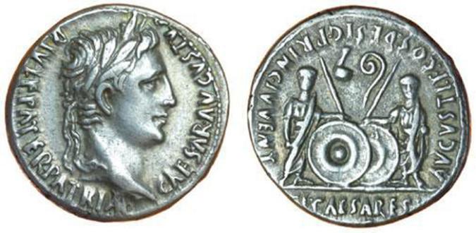 Серебряная монета Рима Денарий