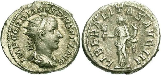 Серебряная монета Рима Двойной Денарий