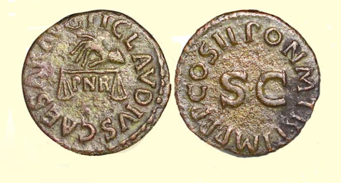Бронзовая монета Рима Квадранс