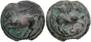 Бронзовая монета Рима Семис