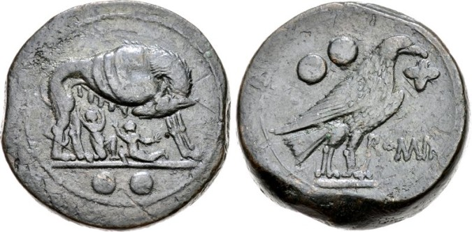 Бронзовая монета Рима Секстанс