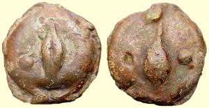 Бронзовая монета Рима Унция