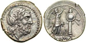 Серебряная монета Рима Викторат