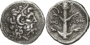 Серебряная монета Греции дидрахма