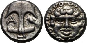 Серебряная монета Греции драхма